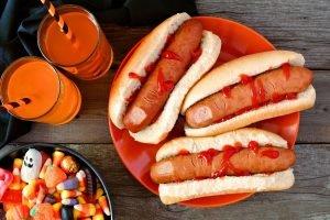 Hotdogs für Halloween