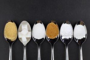 verschiedene Zuckerarten